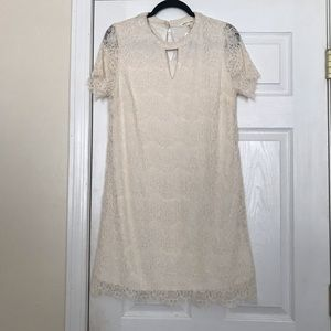 Dresses & Skirts - Laced Cream Dress size XL
